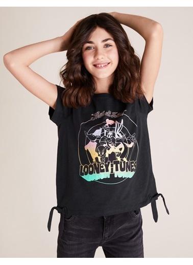 Marks & Spencer Looney Tunes™ T-Shirt Siyah